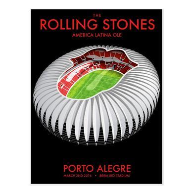 The Rolling Stones Porto Alegre Stadium Lithograph