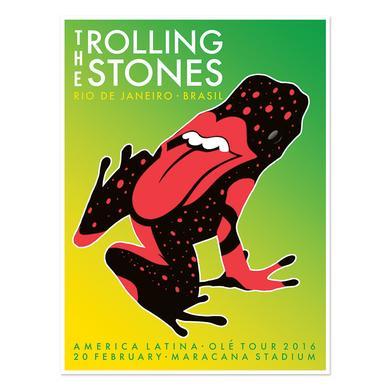 The Rolling Stones Rio de Janeiro Frog Lithograph