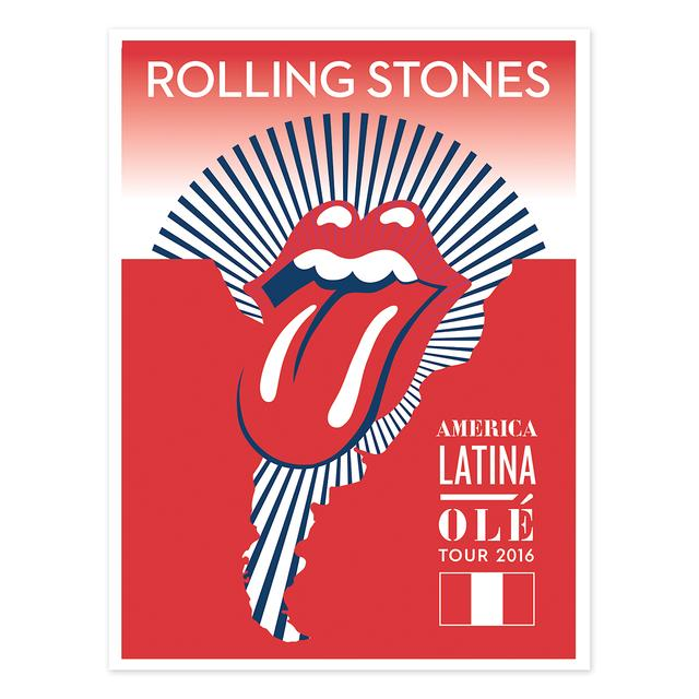 The Rolling Stones RS Peru Litho