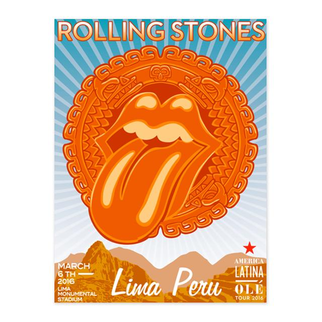 The Rolling Stones RS Ole! Lima Litho