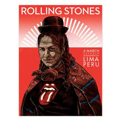 The Rolling Stones Peruvian Women Lima Litho