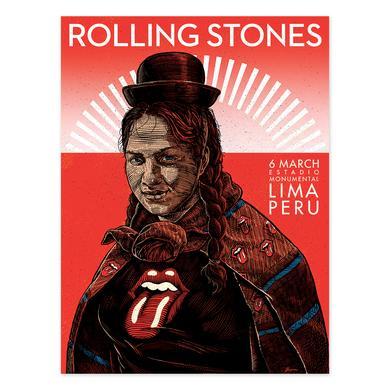 The Rolling Stones Peruvian Women Lima Litho