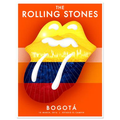 The Rolling Stones RS Bogota Skyline Litho