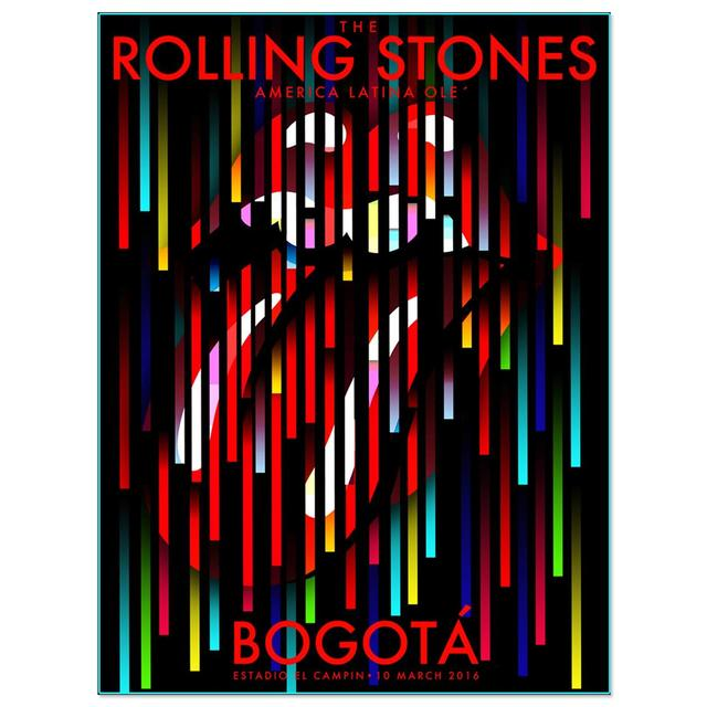 The Rolling Stones RS Bogota Tower lights Litho