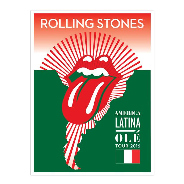 The Rolling Stones RS Mexico Litho