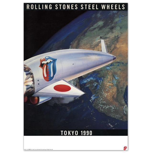 Rolling Stones Steel Wheels Lithograph