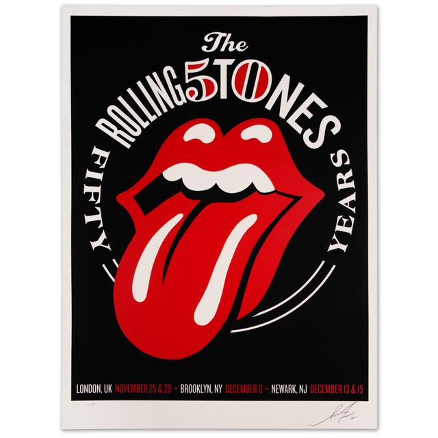 The Rolling Stones Shepard Fairey 50th Lithograph