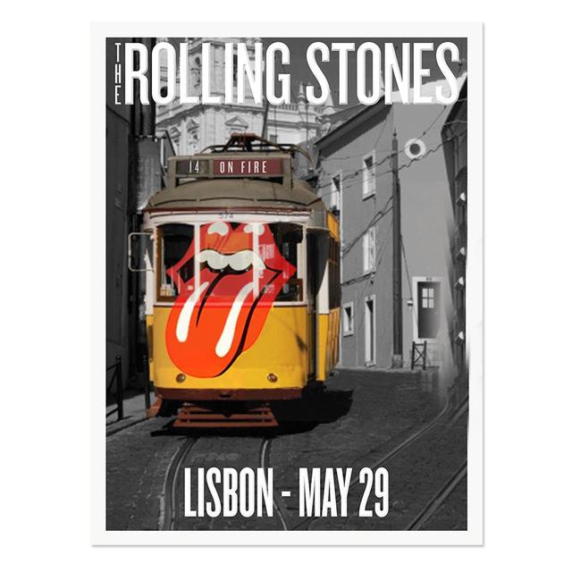 Rolling Stones Lisbon Trolly Poster