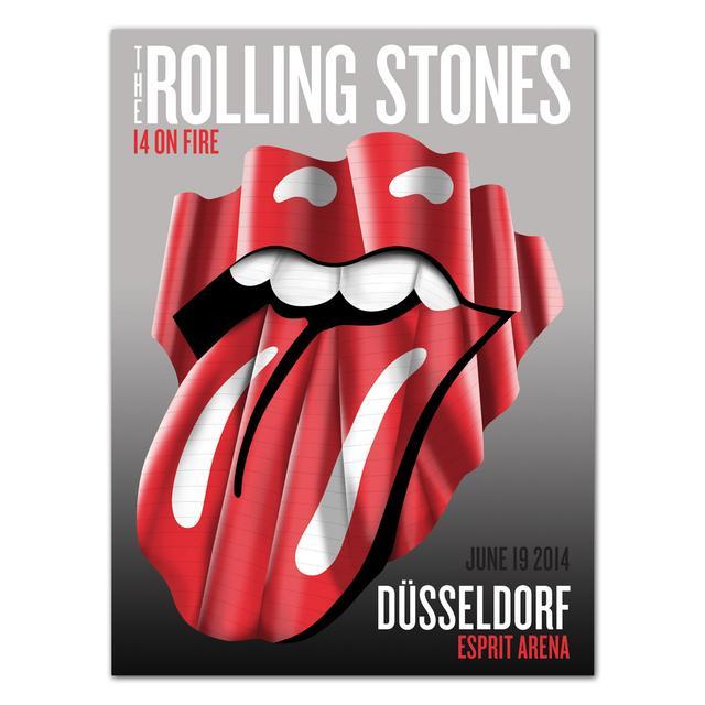 Rolling Stones Dusseldorf Neuer Zollhof Poster