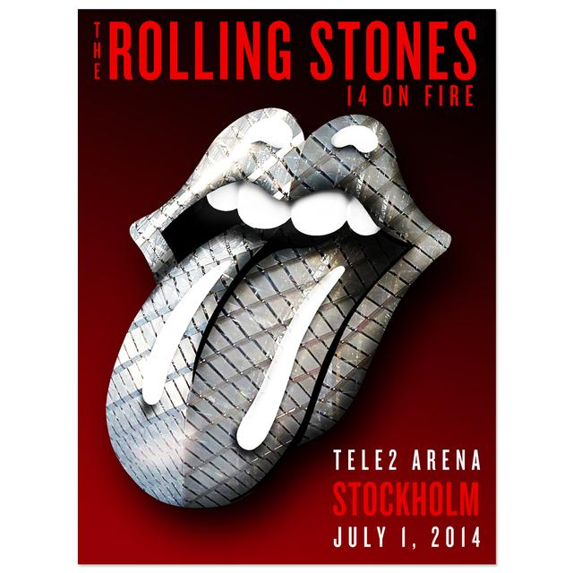 Rolling Stones  Stockholm Tele2 Poster