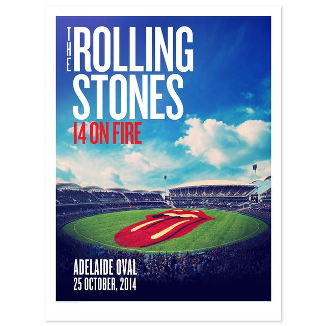 Rolling Stones Adelaide Oval Litho