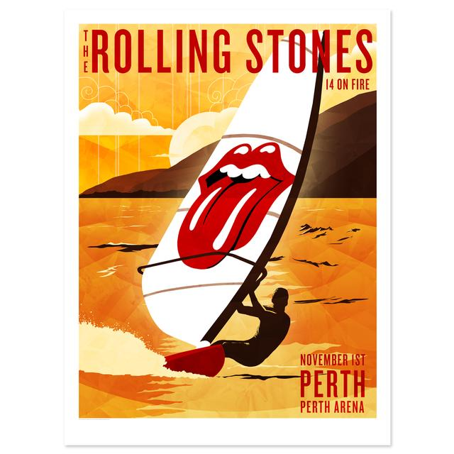 Rolling Stones Perth Windsurfer Litho