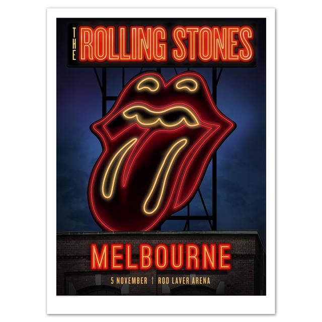 Rolling Stones Melbourne Neon Sign Litho