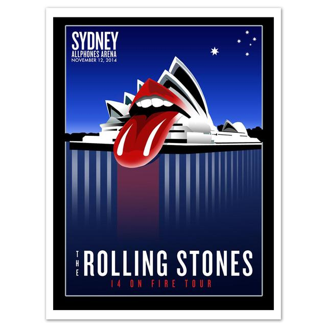 Rolling Stones Sydney Bennelong Point Litho