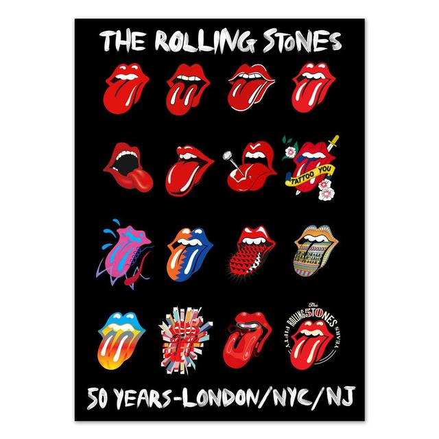 The Rolling Stones Tongue Evolution Sticker