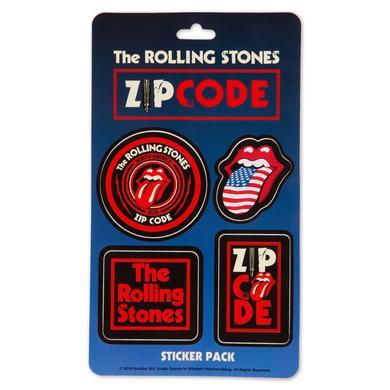 Rolling Stones Zip Code Sticker Sheet