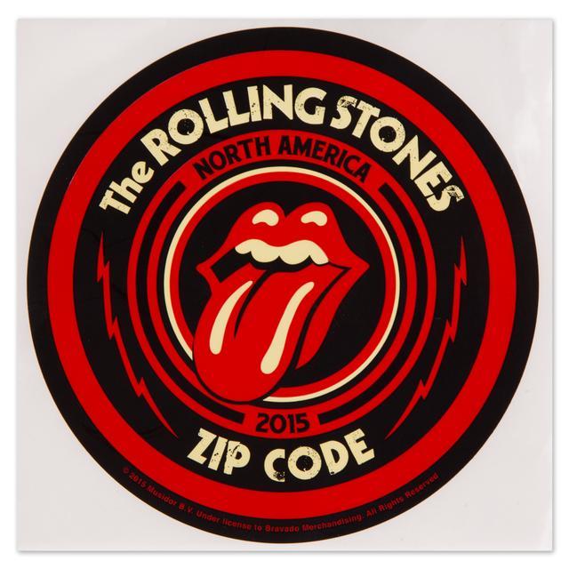 Rolling Stones Zip Code Logo Sticker