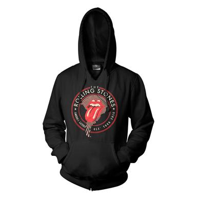 The Rolling Stones RS Ole Seal Mens Black Hoodie