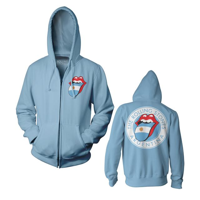 The Rolling Stones RS Argentina Blue Zip Fleece