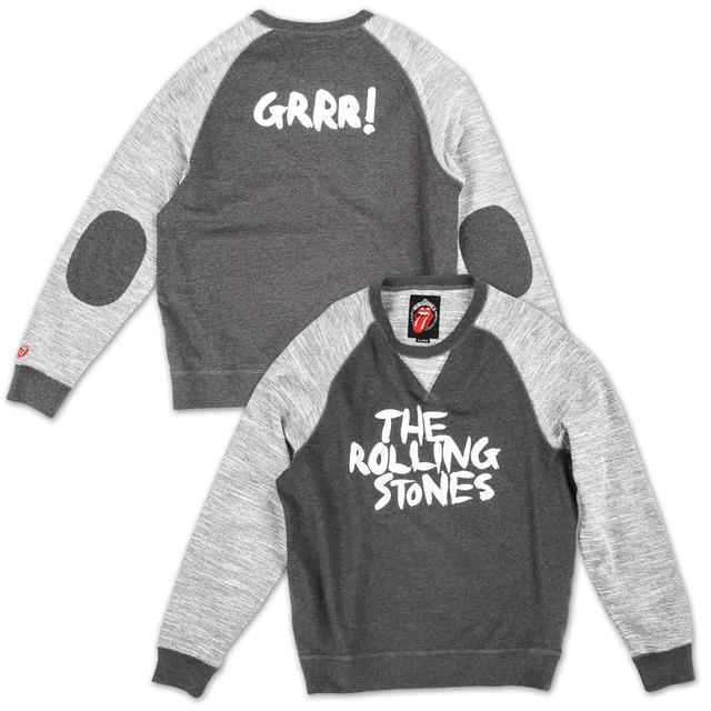 The Rolling Stones GRRR! Elbow-Patch Crew Neck Sweatshirt