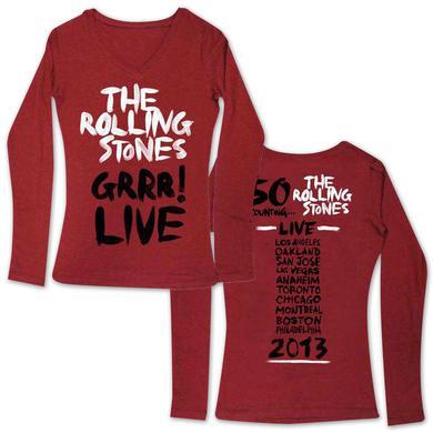The Rolling Stones Girls  GRRR! Date Back V-Neck Shirt