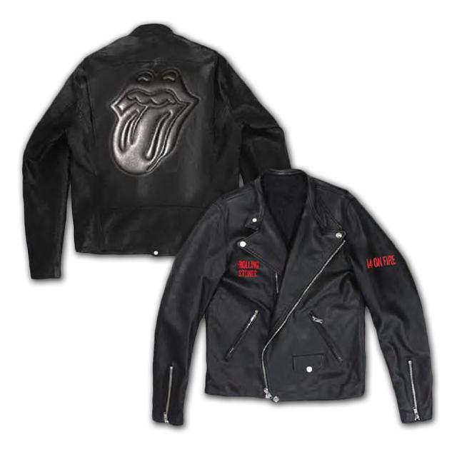 Rolling Stones 14 On Fire Leather Jacket