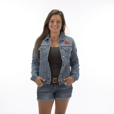 Rolling Stones Arch Logo Ladies Denim Jacket