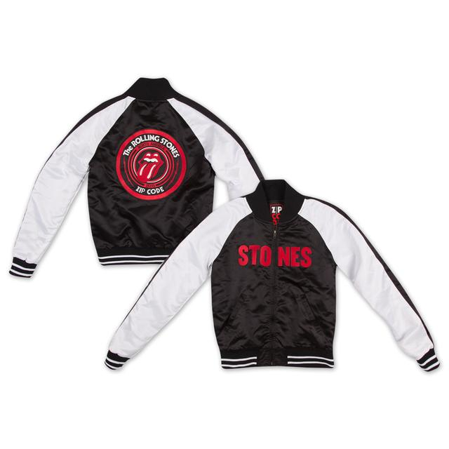 Rolling Stones Zip Code Tour Satin Varsity Men's Jacket