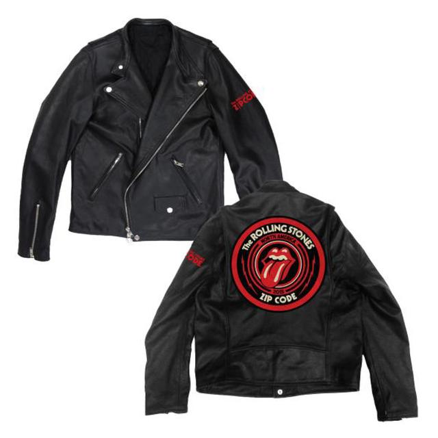 Rolling Stones Zip Code Leather Jacket