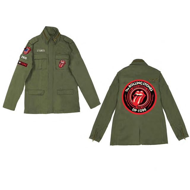 Rolling Stones Zip Code Tour Jacket Army Utilitarian Tongue Jacket