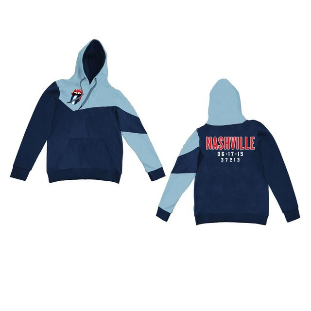 Rolling Stones Nashville Event Color Block Pullover Hoodie