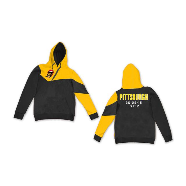 Rolling Stones Pittsburgh Color Block Pullover Hoodie