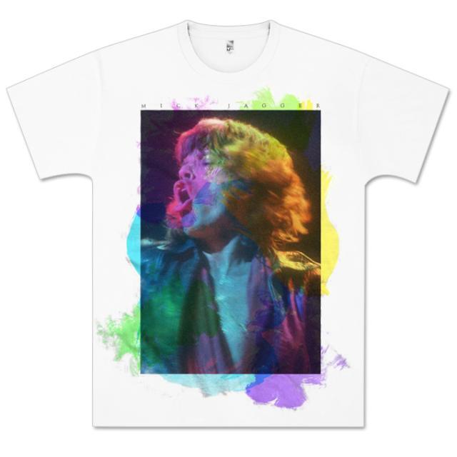 The Rolling Stones Mick Jagger Paint Splatter T-Shirt