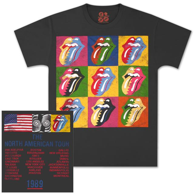 Rolling Stones '89 Steel Wheels Warhol T-Shirt