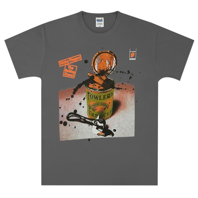 Rolling Stones Sticky Black Treacle Charcoal T-Shirt