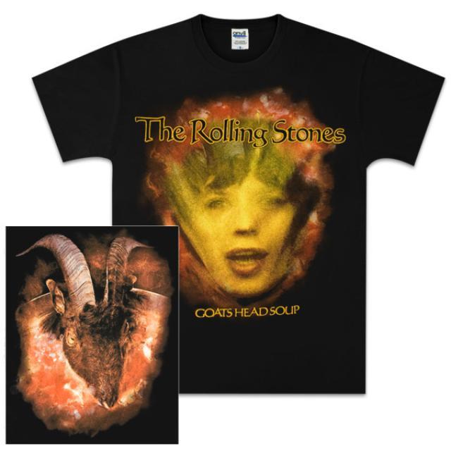 Rolling Stones Goat's Head Soup Face Black T-Shirt