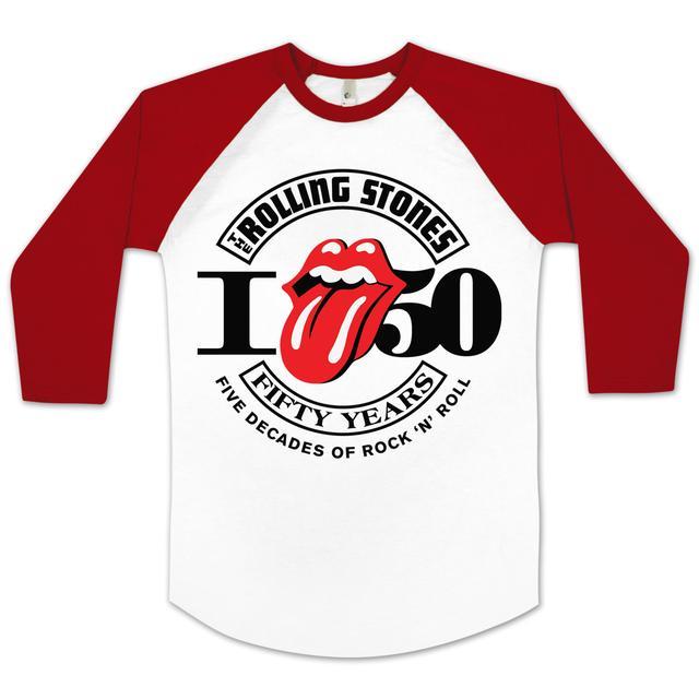 Rolling Stones Girl's 50th Anniversary Raglan