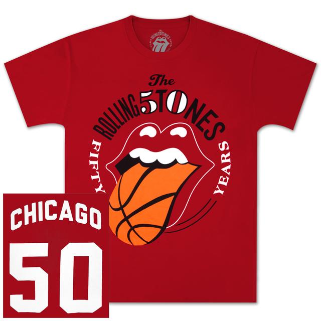 The Rolling Stones 50 And Counting Chicago Event T-Shirt