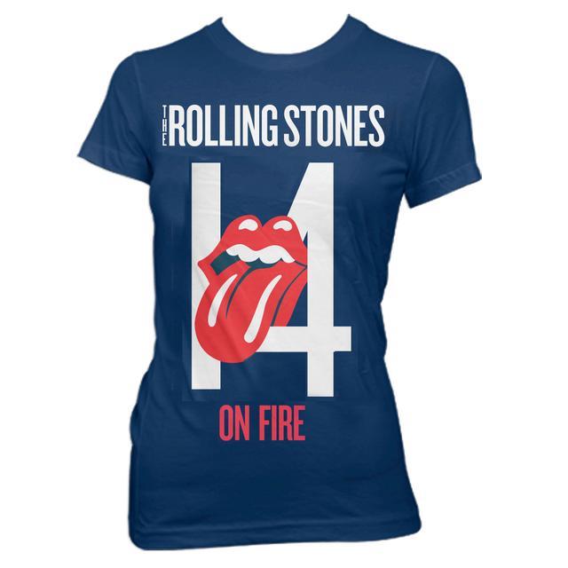 Rolling Stones 14 On Fire Juniors Tee