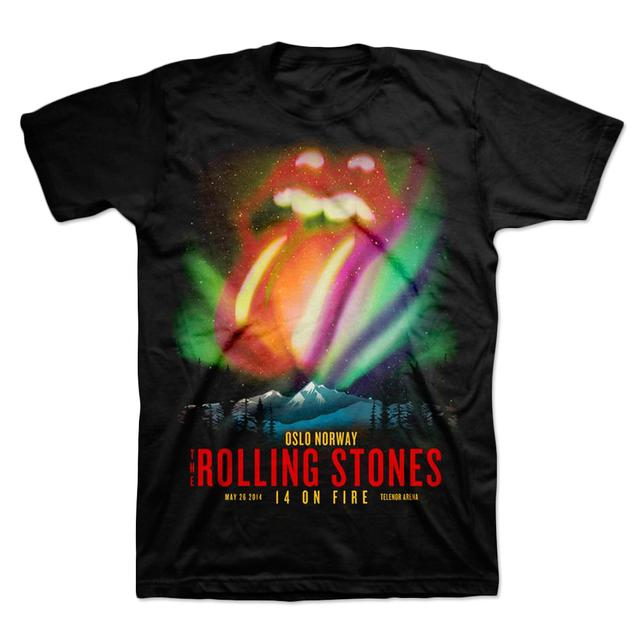 Rolling Stones Oslo Northern Lights T-Shirt