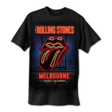 Rolling Stones Melbourne Neon Sign T-Shirt