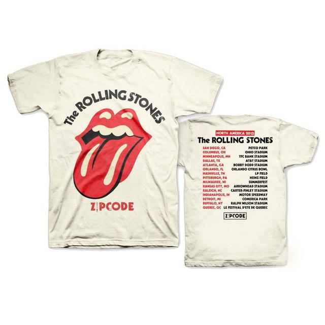 Rolling Stones Zip Code Classic Tongue Tour T-shirt