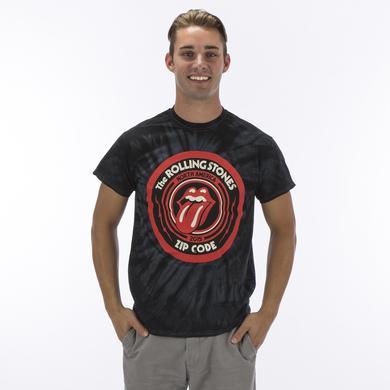 Rolling Stones Zip Code Tour T Shirt - Tie Dye Tour T-Shirt