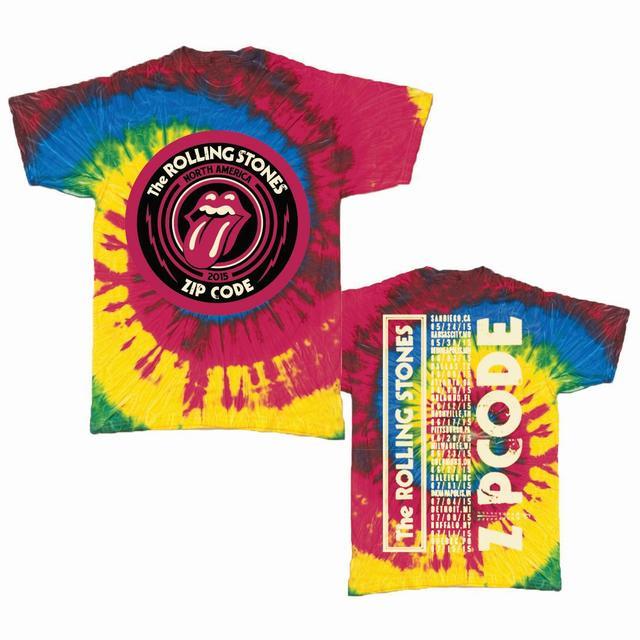 Rolling Stones Zip Code Tour Shirt - Tie Dye Tour T-Shirt