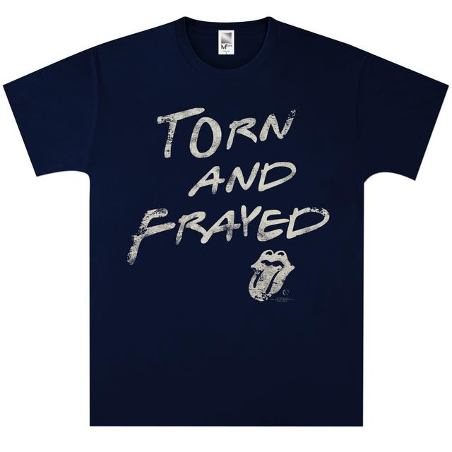 Rolling Stones Torn and Frayed Navy T-Shirt