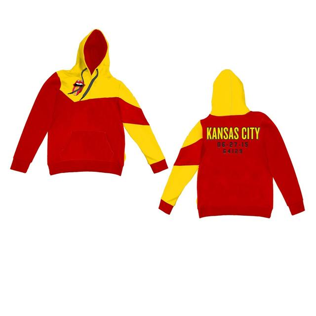 Rolling Stones Kansas City Event Color Block Pullover Hoodie