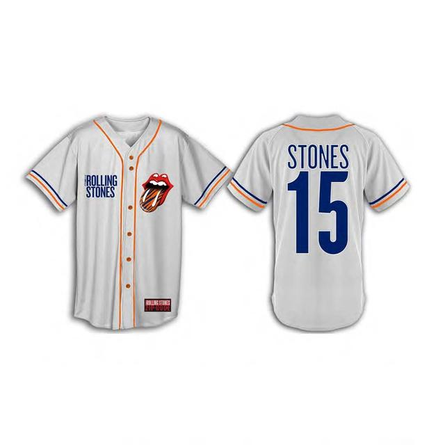 Rolling Stones Detroit Event Baseball Jersey