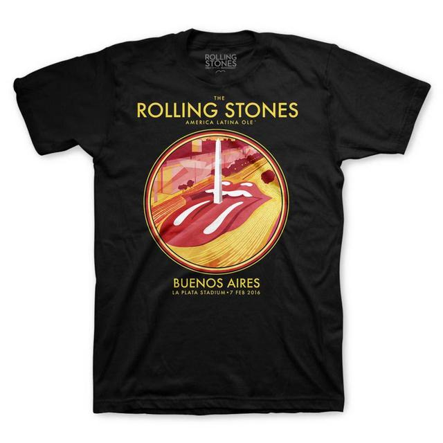 The Rolling Stones RS Buenos Aires Obelisk Black T-Shirt