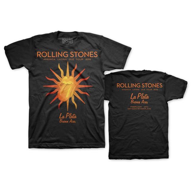 The Rolling Stones RS La Plata Argentina Black T-Shirt