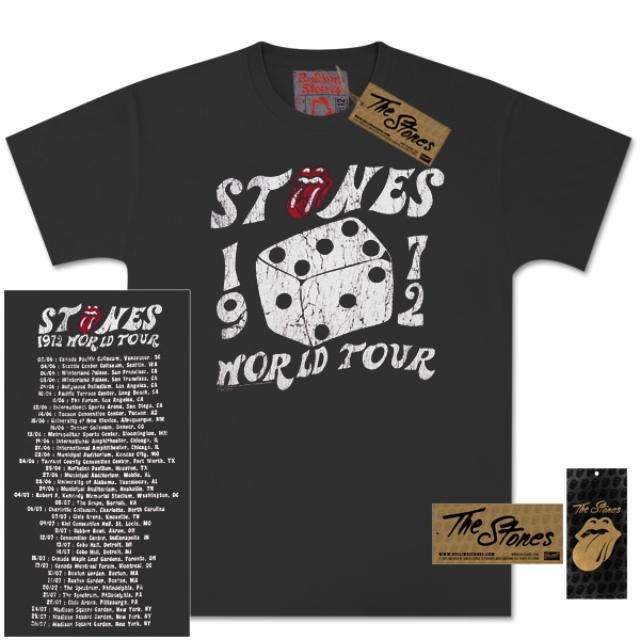 Rolling Stones 1972 Dice Vintage Tour T-Shirt
